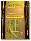 Wayfinding sign in Lakeview